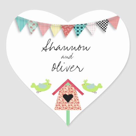 Cute Whimsical Birds And Birdhouse Envelope Seal