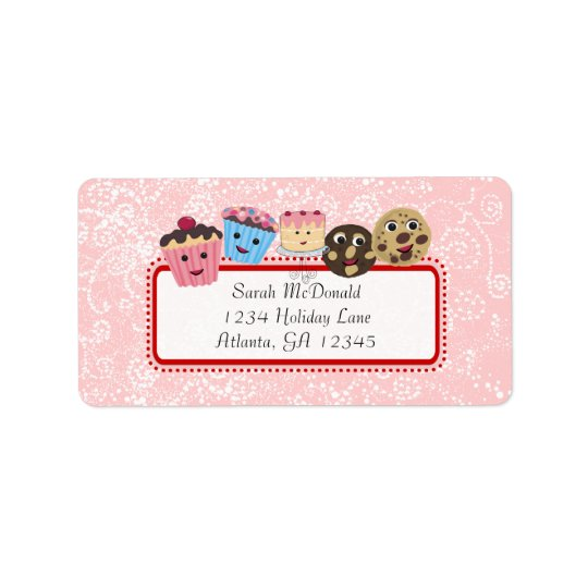 Cute Whimsical Cupcake, Cookie & Cakes Label
