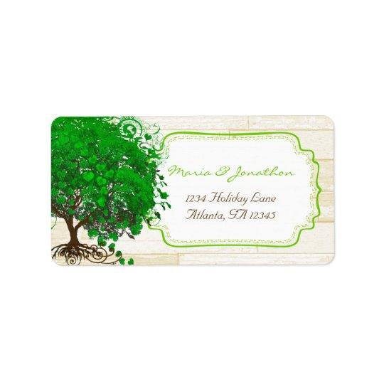 Cute Whimsical Emerald Green Heart Leafed Tree