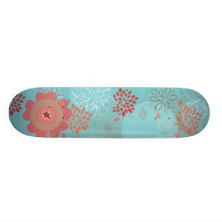 cute whimsical flowers and bokeh 2 skateboards