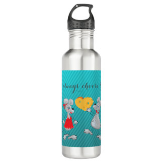 Cute Whimsical  Mouses-I`ll always choose you 710 Ml Water Bottle