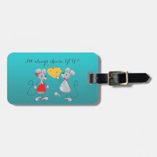Cute Whimsical  Mouses-I`ll always choose you Luggage Tag
