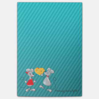 Cute Whimsical  Mouses-I`ll always choose you Post-it Notes