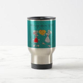 Cute Whimsical  Mouses-I`ll always choose you Travel Mug