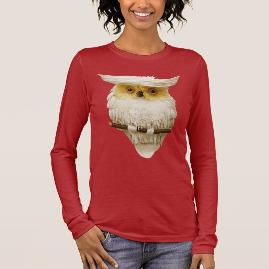 Cute Whimsical Owl Long Sleeve T-Shirt