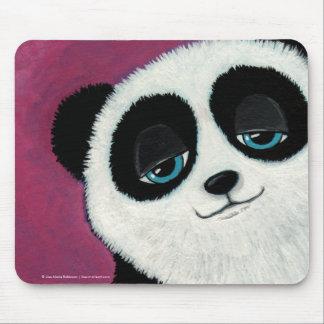 Cute Whimsical Panda Bear with Blue Eyes Mousepad