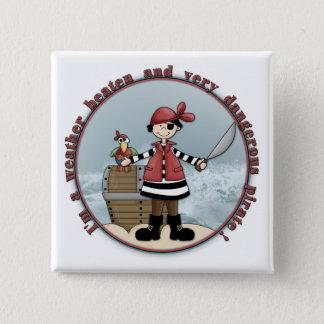 Cute, whimsical Pirate design 2 Inch Square Button