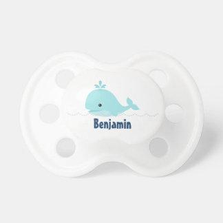 Cute Whimsical Whale {blue} Pacifier