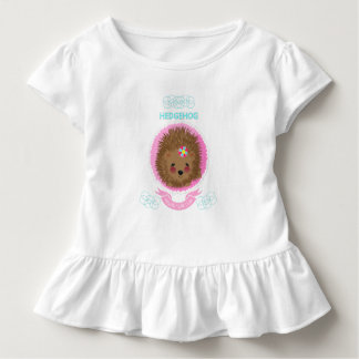 Cute Whimsy Woodland Animal Hedgehog Design Toddler T-shirt