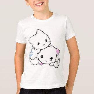 Cute white animated kittens tees