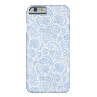 Cute white blue paisley pattern barely there iPhone 6 case