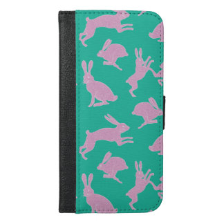 Cute White Bunnies on Green Phone Case