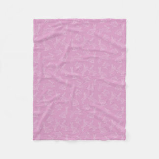 Cute White Bunnies on Pink Fleece Blanket