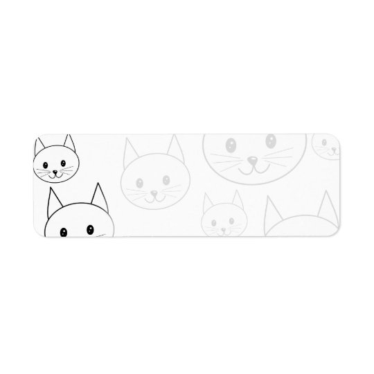 Cute White Cats Pattern.