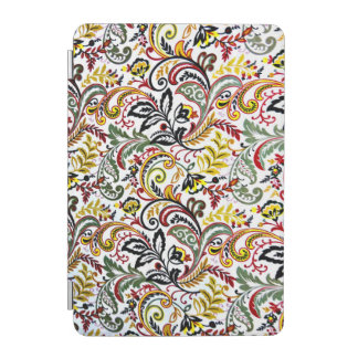 Cute white classic colorful floral design iPad mini cover