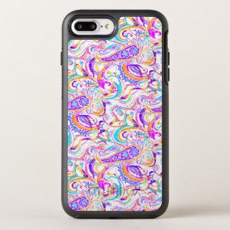 Cute white colorful paisley design OtterBox symmetry iPhone 8 plus/7 plus case