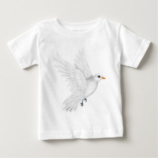 Cute white dove flying baby T-Shirt