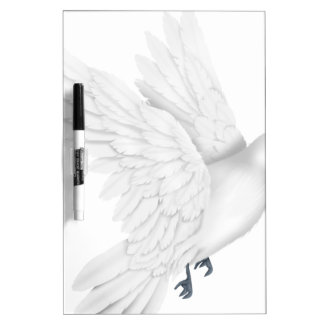 Cute white dove flying Dry-Erase boards