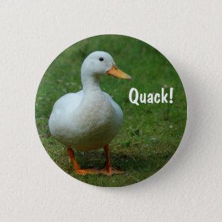 Cute white duck button / badge