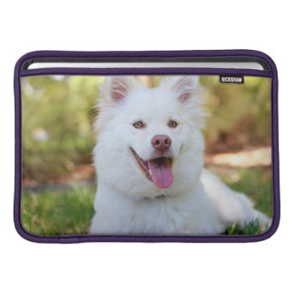 Cute White Fluffy Dog Macbook Air Sleeve