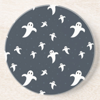 Cute white ghosts coaster