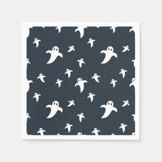 Cute white ghosts paper napkin