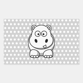 Cute White Hippo Sticker