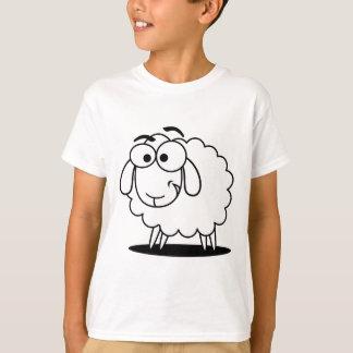 Cute white little cartoon sheep t shirt