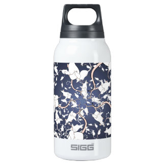 Cute White Mice. In Deep Space. Custom Insulated Water Bottle