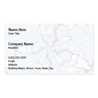 Cute White Mouse Pattern. Mice on Blue. Double-Sided Standard Business Cards (Pack Of 100)