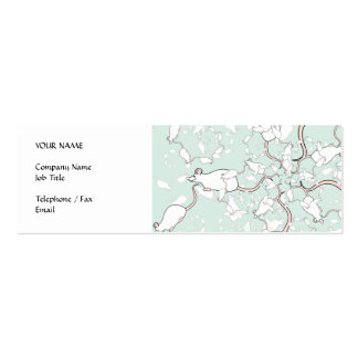 Cute White Mouse Pattern. Mice, on Green. Double-Sided Mini Business Cards (Pack Of 20)
