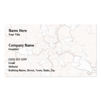 Cute White Mouse Pattern. Mice on Pink. Double-Sided Standard Business Cards (Pack Of 100)
