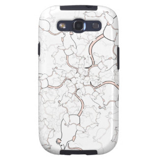 Cute White Mouse Pattern Mice on White Samsung Galaxy S3 Covers