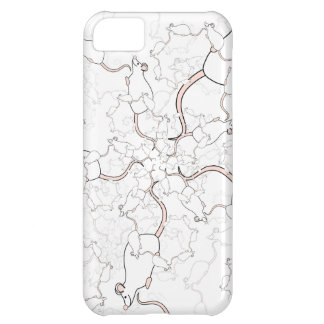 Cute White Mouse Pattern Mice on White Case For iPhone 5C