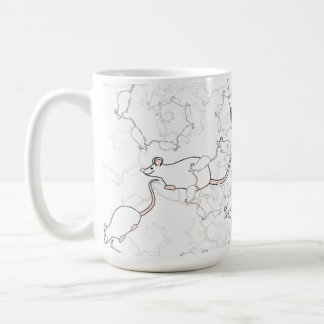 Cute White Mouse Pattern. Mice on White. Classic White Coffee Mug