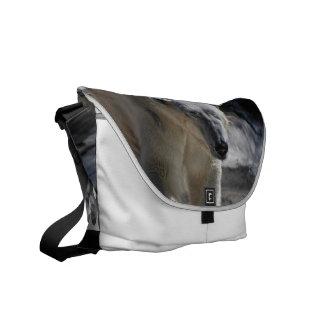 Cute White Polar Bear Messenger Bags