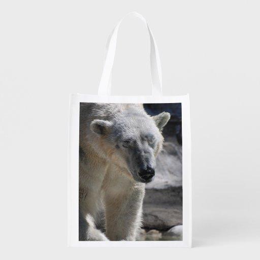 Cute White Polar Bear Grocery Bag
