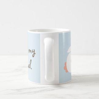 Cute white rabbit, bunny mug