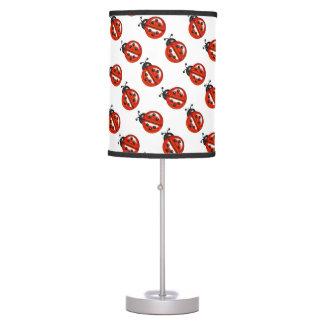 Cute White  & Red Ladybug Lamp