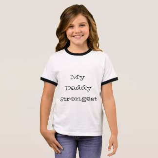 Cute white t-shirt for daddy's girl