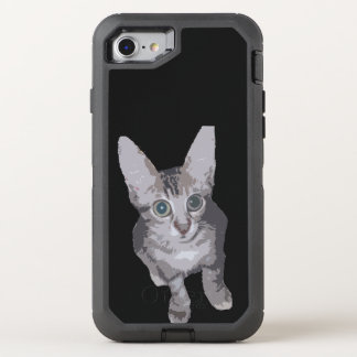 Cute Wide Eye Kitten OtterBox Defender iPhone 7 Case