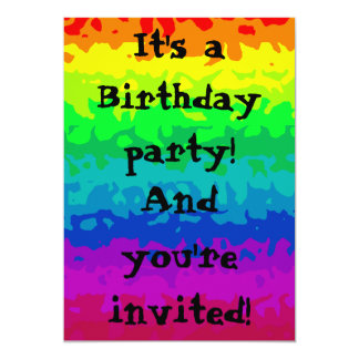 Cute wild abstract rainbow 5x7 all occasion card