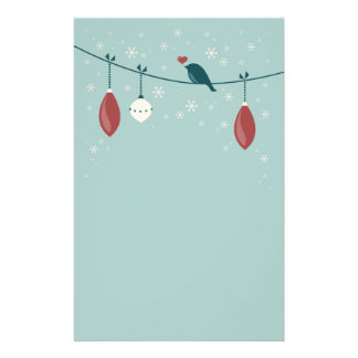 Cute Winter Holiday Customized Stationery
