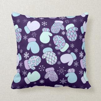 Cute winter mittens throw pillow