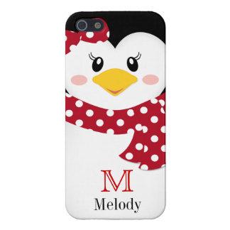 Cute Winter Penguin iPhone Case iPhone 5 Cover