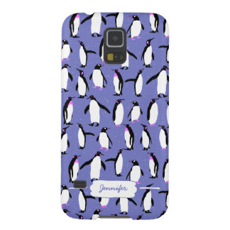 Cute winter penguin pattern galaxy s5 cover