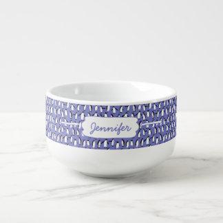 Cute winter penguin pattern soup mug