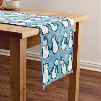 Cute Winter Penguins Design Short Table Runner
