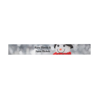 Cute Winter Snowman Belly Band Invitation Belly Band