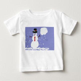 Cute Winter Snowman Tshirt for Kids